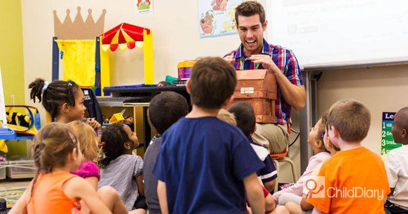 Influência dos educadores de infância no desenvolvimento das crianças - Educador com grupo