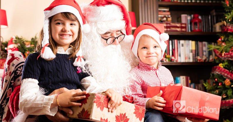 3 dicas para uma festa de Natal com crianças - Crianças com Pai Natal