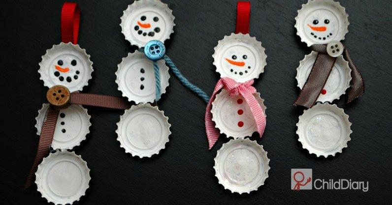 Como fazer um Boneco de Neve com caricas - ChildDiary
