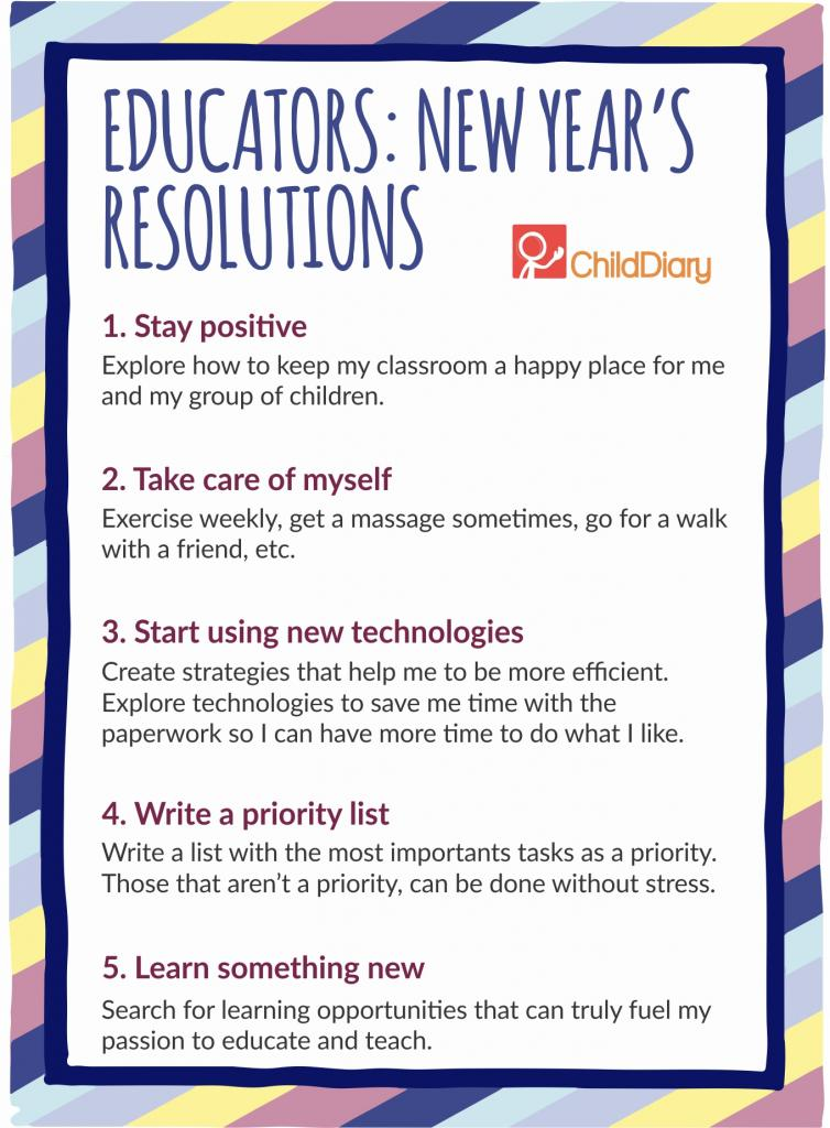 New Year's Resolution just for Early Childhood Professionals - 5 resolutions