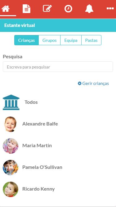 Como consultar o perfil de cada criança - estante virtual