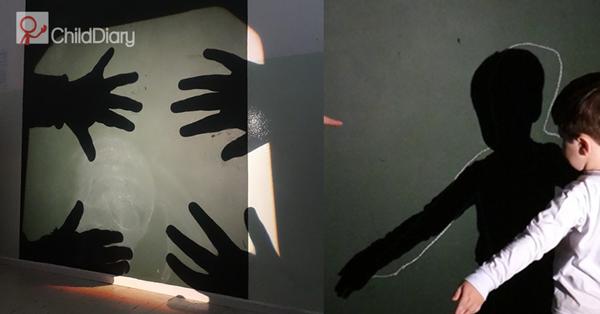 3 sugestões para explorar arte em creche e pré-escolar - Criança a brincar com sombras - ChildDiary