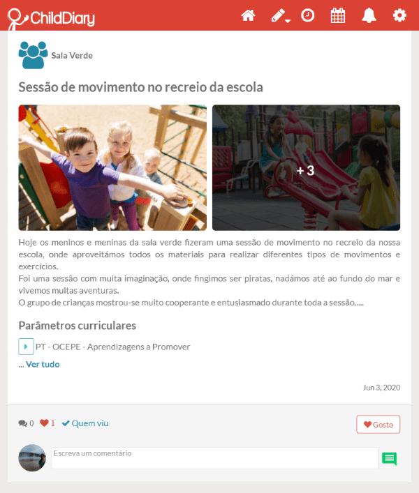 childdiary poupar 1 hora por dia na comunicação e documentação pedagógica 2-min